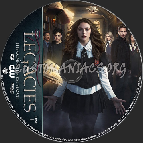 Legacies Season 1 dvd label