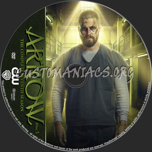 Arrow Season 7 dvd label