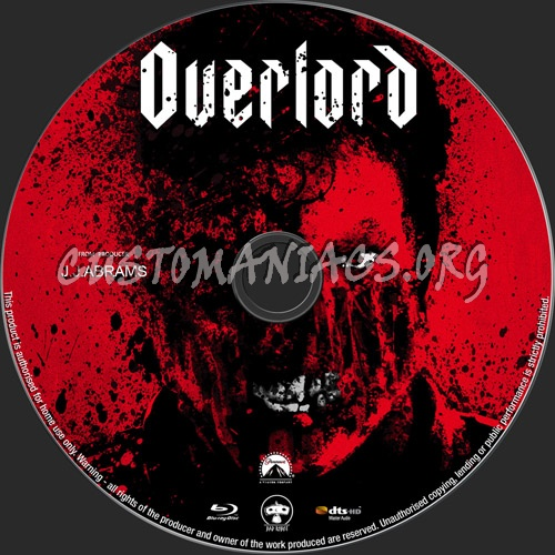 Overlord blu-ray label