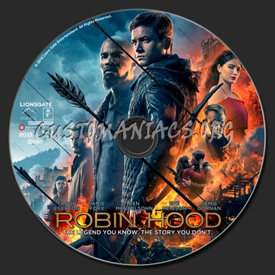 Robin Hood (2018) blu-ray label