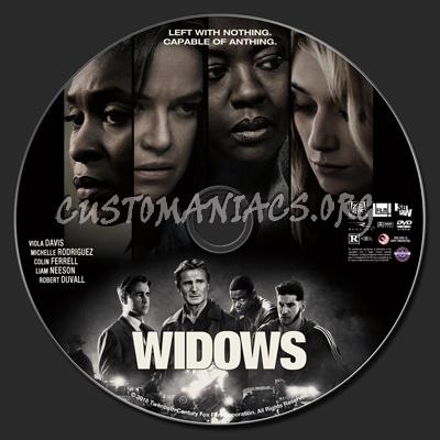 Widows (2018) dvd label