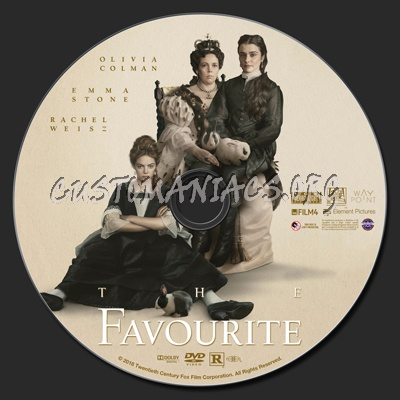 The Favourite dvd label