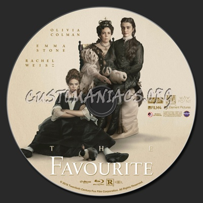 The Favourite blu-ray label