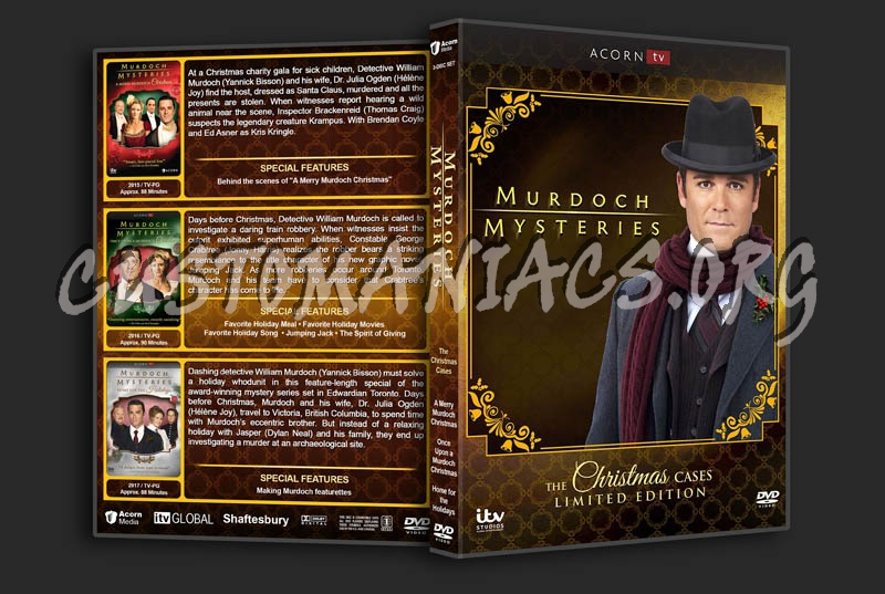 Murdoch Mysteries: The Christmas Cases dvd cover