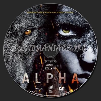 Alpha (2018) dvd label