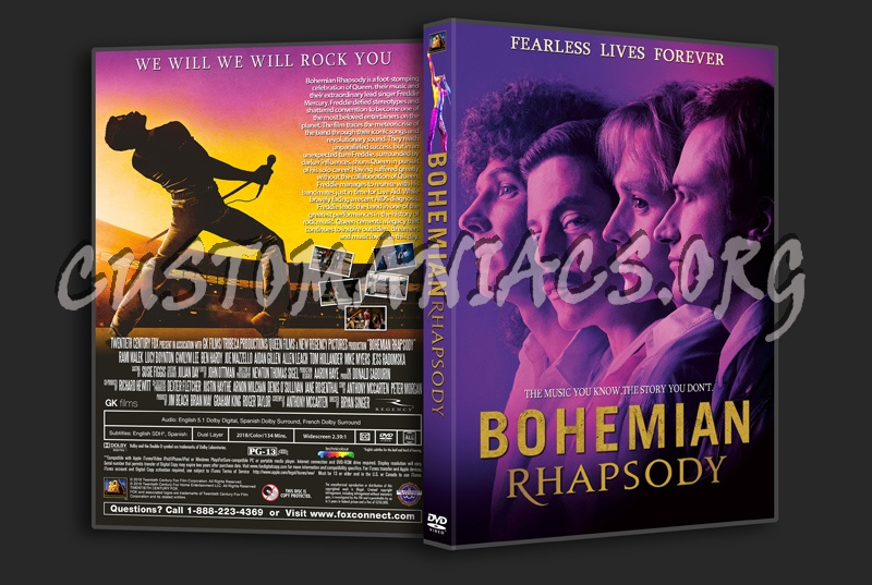 Bohemian Rhapsody dvd cover