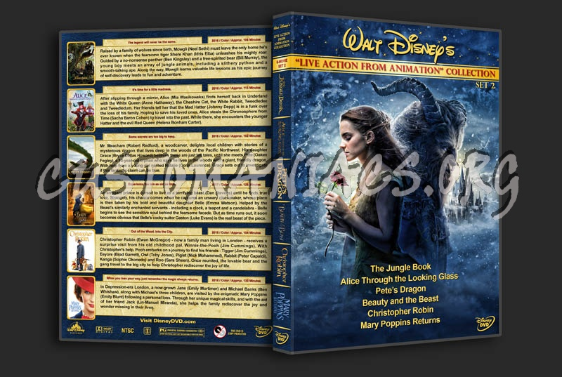 """Walt Disney """"Live Action from Animation"""" Collection - Set 2 dvd cover"""
