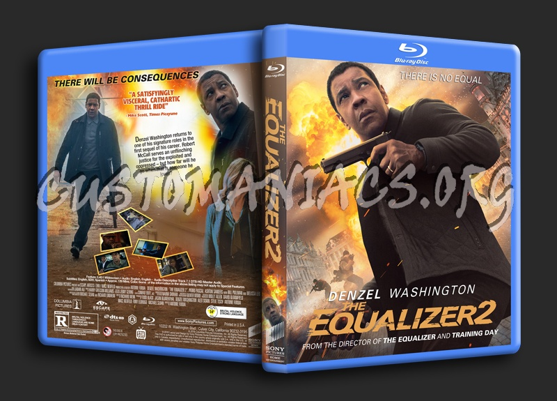 The Equalizer 2 blu-ray cover
