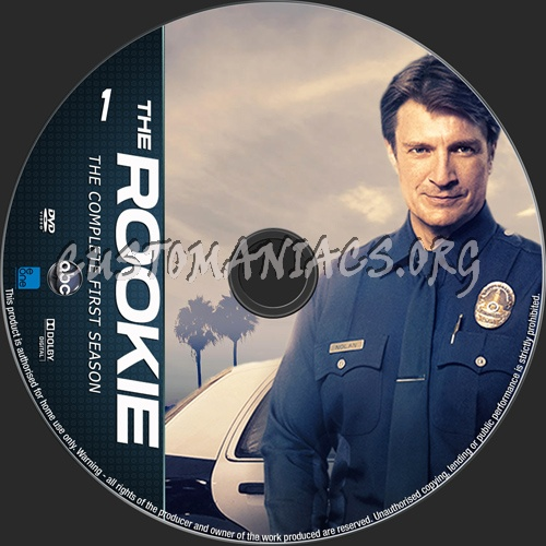 The Rookie Season 1 dvd label
