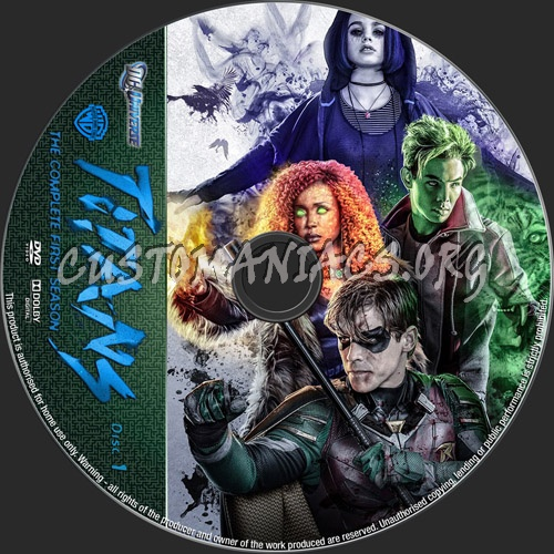 Titans Season 1 dvd label