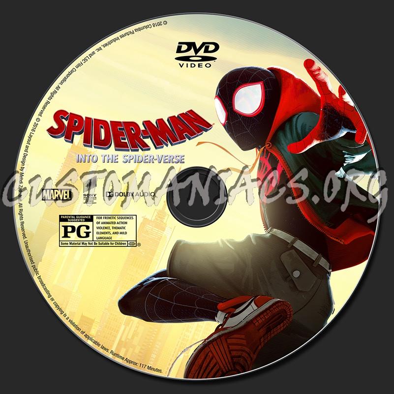 Spider-Man: Into The Spider-Verse dvd label