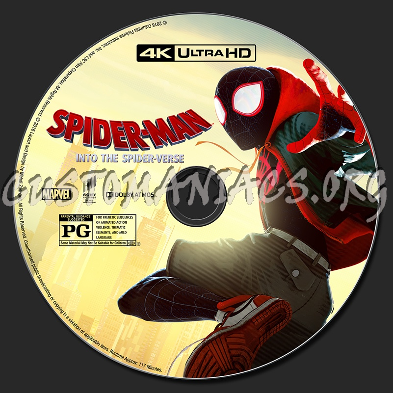 Spider-Man: Into The Spider-Verse (2D/3D/4K) blu-ray label
