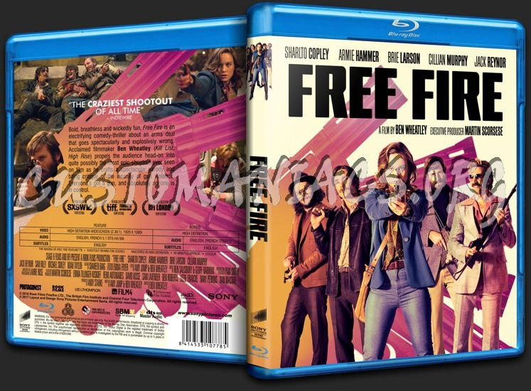 Free Fire blu-ray cover