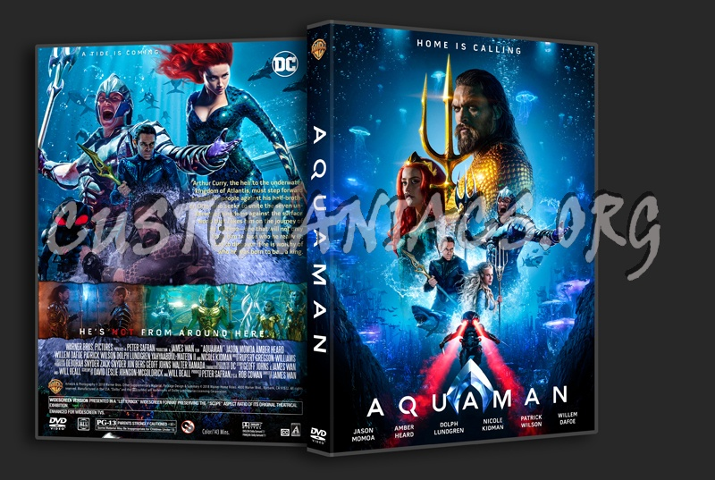Aquaman (2018) dvd cover