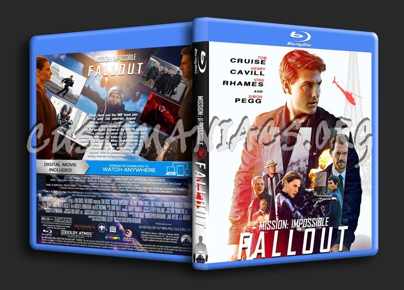 Mission: Impossible - Fallout (2018) blu-ray cover