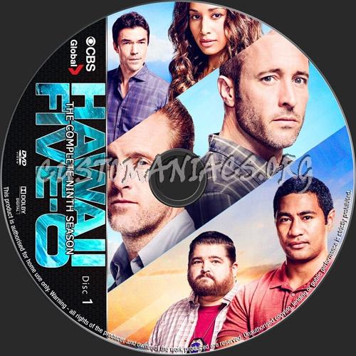 Hawaii Five-O Season 9 dvd label