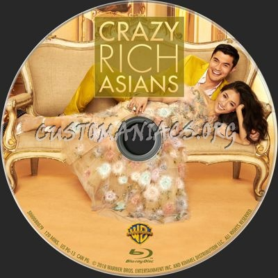 Crazy Rich Asians blu-ray label