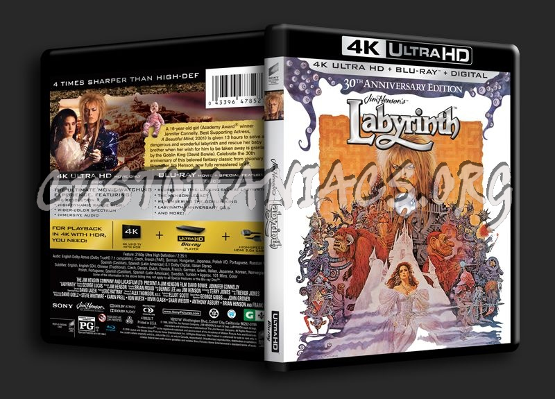 Labyrinth 4K blu-ray cover