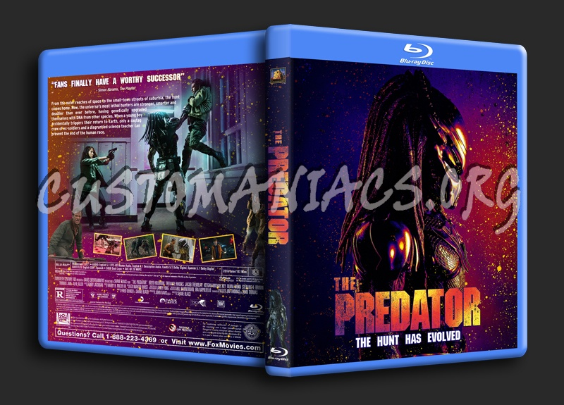 The Predator (2018) blu-ray cover