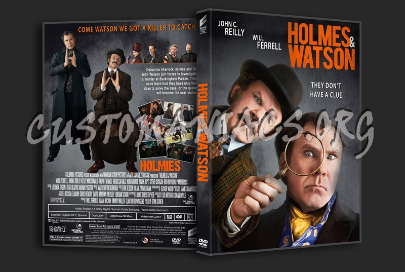 Holmes & Watson 2018 dvd cover