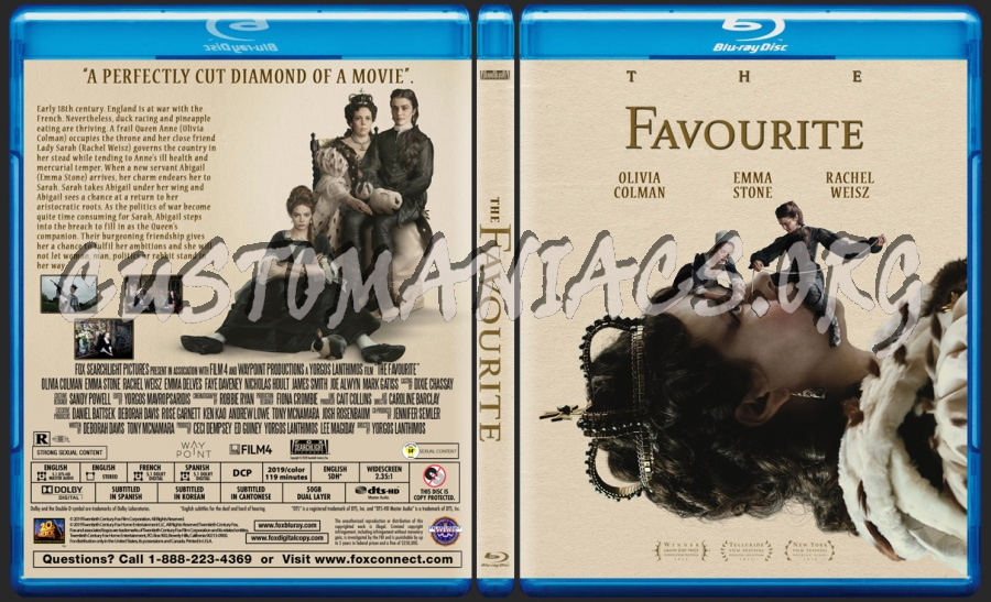 The Favourite blu-ray cover