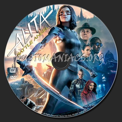 Alita: Battle Angel dvd label
