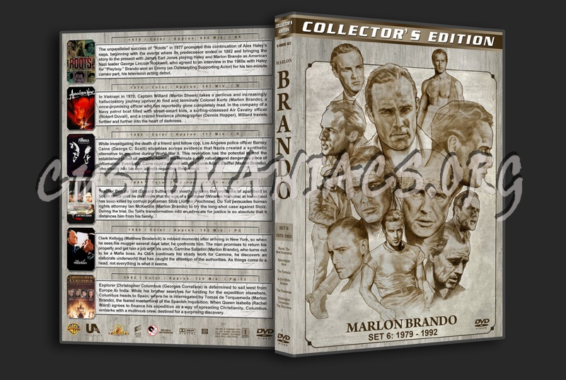 Marlon Brando Filmography - Set 6 (1979-1992) dvd cover