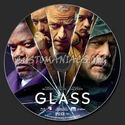 Glass blu-ray label