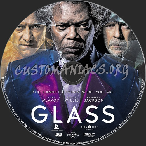 Glass dvd label