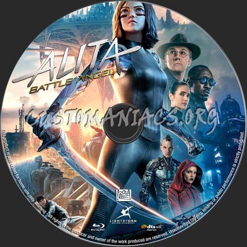 Alita Battle Angel blu-ray label
