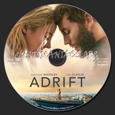Adrift (2018) dvd label