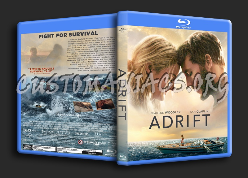 Adrift (2018) blu-ray cover
