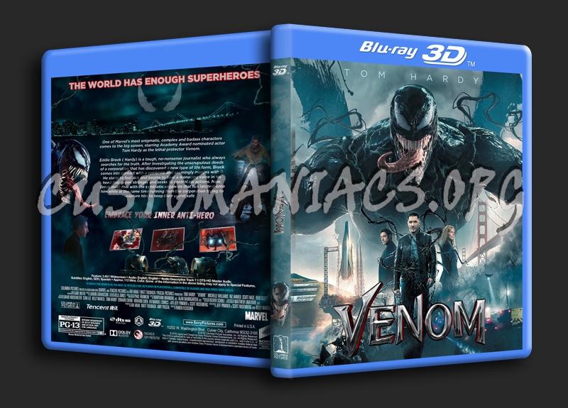 Venom (2018) 3D blu-ray cover