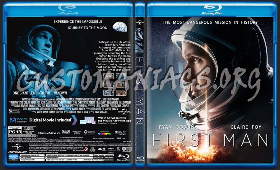 First Man blu-ray cover