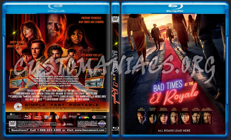 Bad Times At The El Royale blu-ray cover