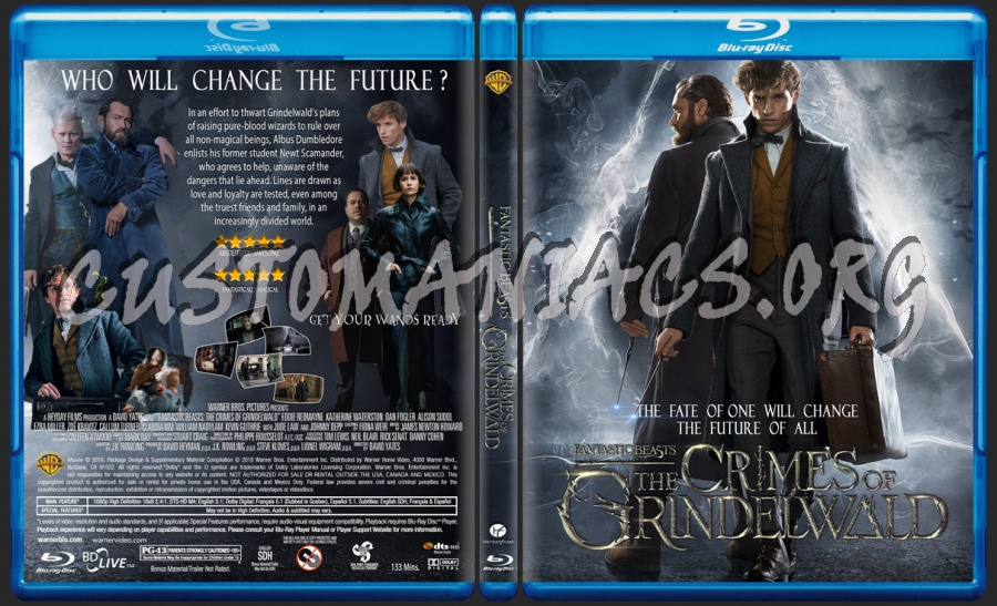 Fantastic Beasts The Crimes Of Grindelwald blu-ray cover