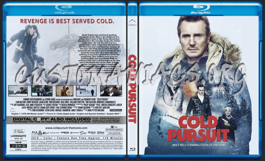 Cold Pursuit blu-ray cover