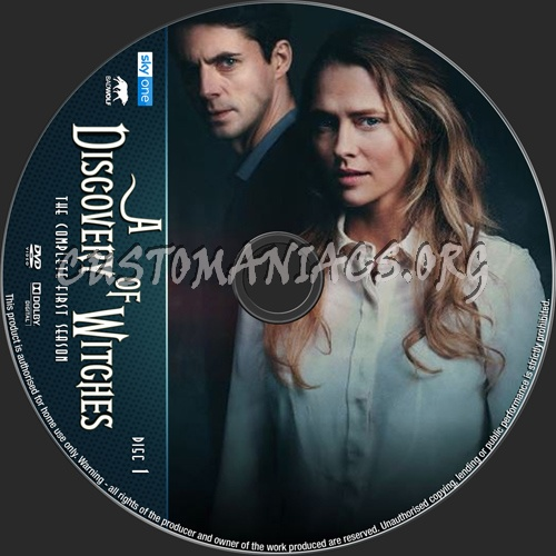 A Discovery Of Witches Season 1 dvd label