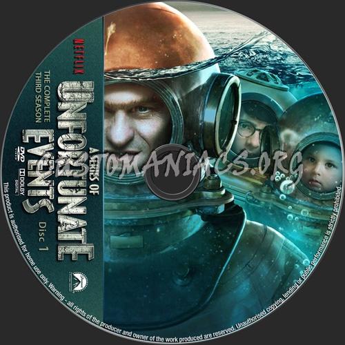A Series Of Unfortunate Events Season 3 dvd label