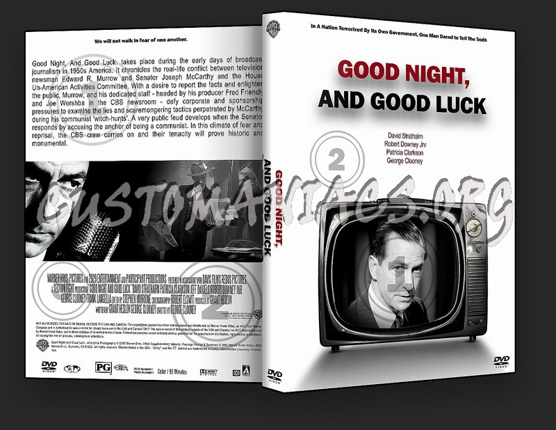 Good Night And Good Luck dvd cover