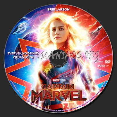Captain Marvel dvd label