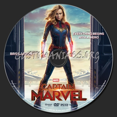 Captain Marvel dvd label