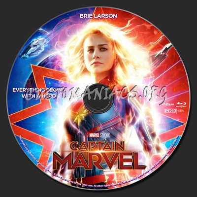 Captain Marvel 2D & 3D blu-ray label