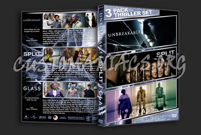 Unbreakable / Split / Glass Triple Feature dvd cover
