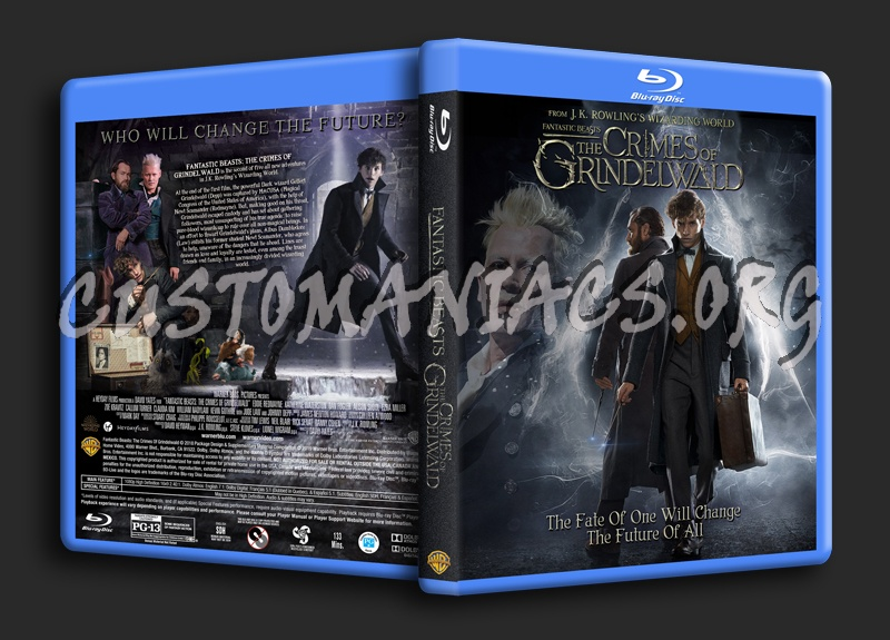Fantastic Beasts: The Crimes Of Grindelwald blu-ray cover