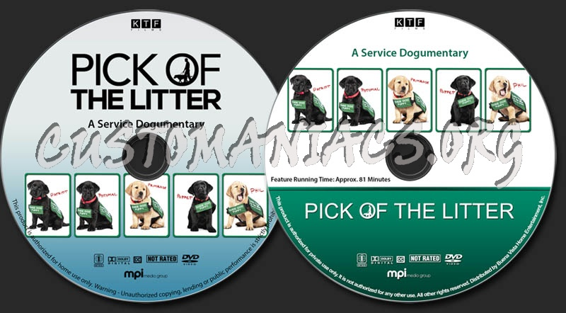 Pick of the Litter dvd label