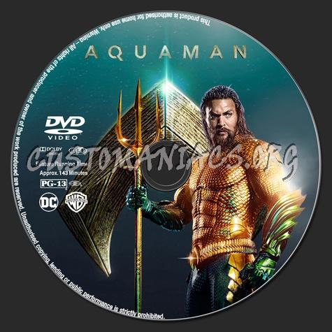 Aquaman dvd label