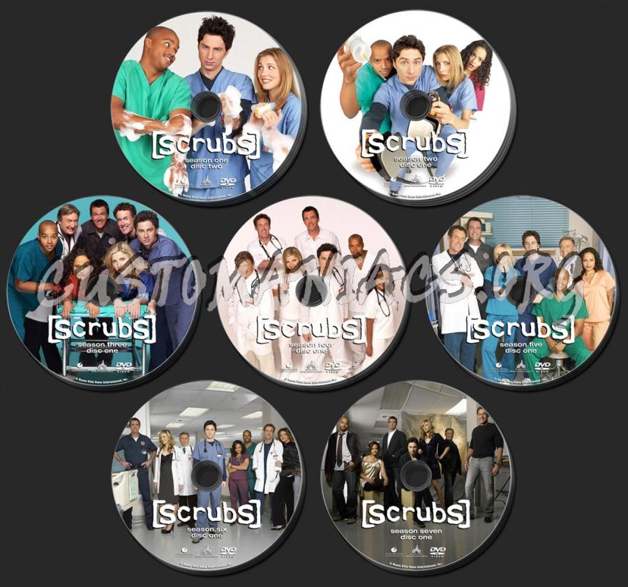 Scrubs Seasons 1 to 7 dvd label