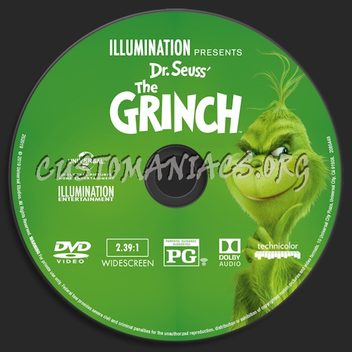 The Grinch (2018) dvd label