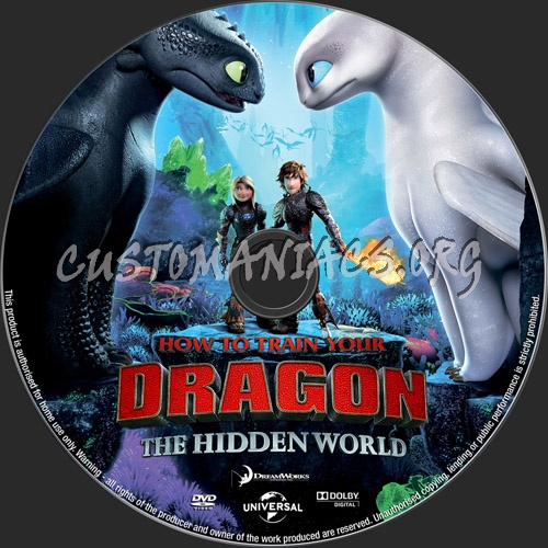 How To Train Your Dragon:The Hidden World dvd label
